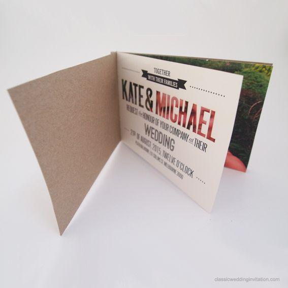 Laser Cut Booklet Wedding Invitation