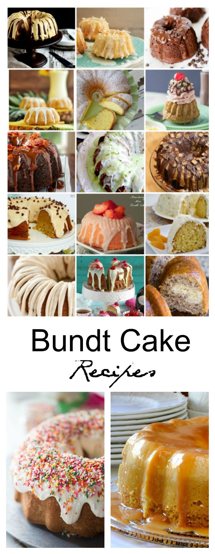 Cake Recipes| Bundt Cakes always look so fancy without having to do a lot of extra work. I mean, who doesn't love cake? Bundt Cakes are always delicious too!