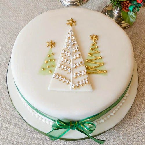 easy christmas cake decoration - Google Search