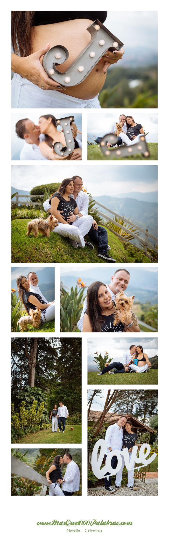 Esta sesión de maternidad la hicimos en la loma del escobero en Envigado, en medio de hermosos jardines y una muy buena vista de la ciudad. www.masque1000palabras.com
