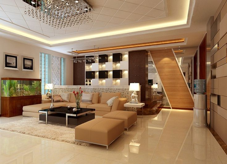 Neutral cool living room idea 1021 736 for Amazing house interior designs