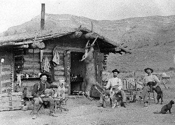 Homestead on the Williams Fork River (NW Colorado) circa 1900