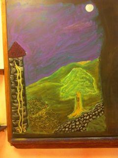 Waldorf ~ 1st grade ~ Letter: T ~ Rapunzel ~ chalkboard drawing
