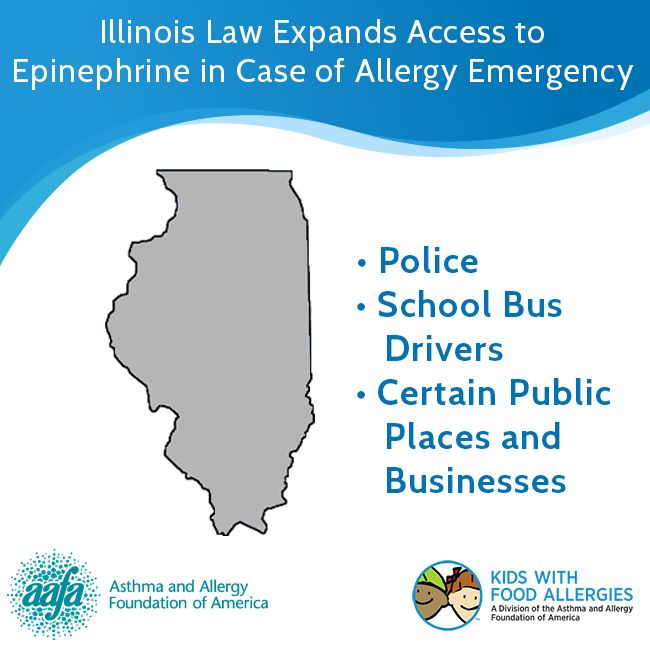 Illinois Law Expands Access to Epinephrine in Case of Allergy Emergency