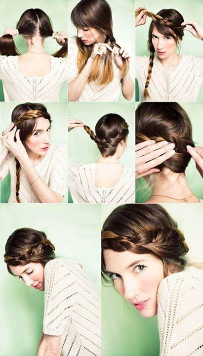 Diy  -girl hair styles via Facebook  -girl hair styles