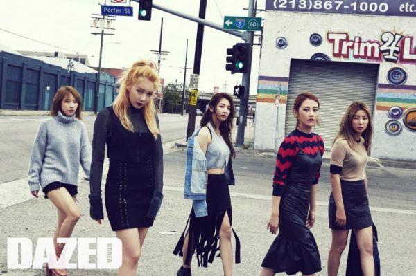 4Minute Dazed & Confused Magazine September 2015 Photoshoot