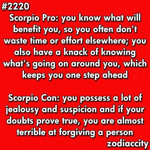 Scorpio: Pros & Cons   Image quotes, Scorpio facts, True