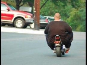 Funny Fat people go on his Byk  #FunnyPicture