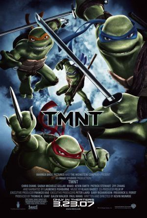 TMNT (2007) Directed by Kevin Munroe.  With Patrick Stewart, Mako, Chris Evans, Sarah Michelle Gellar.