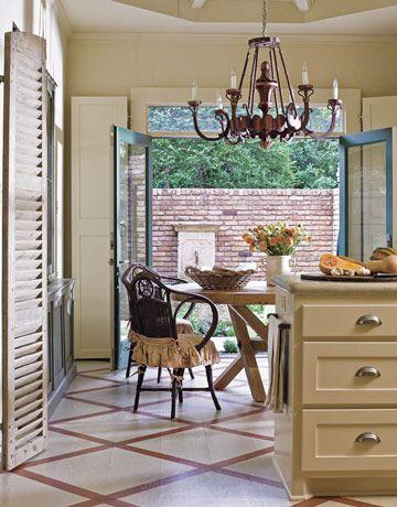 Painted Floors: Kitchens, Decor, Ideas, Floor Design, House, Painted Kitchen Floors, Painted Floors