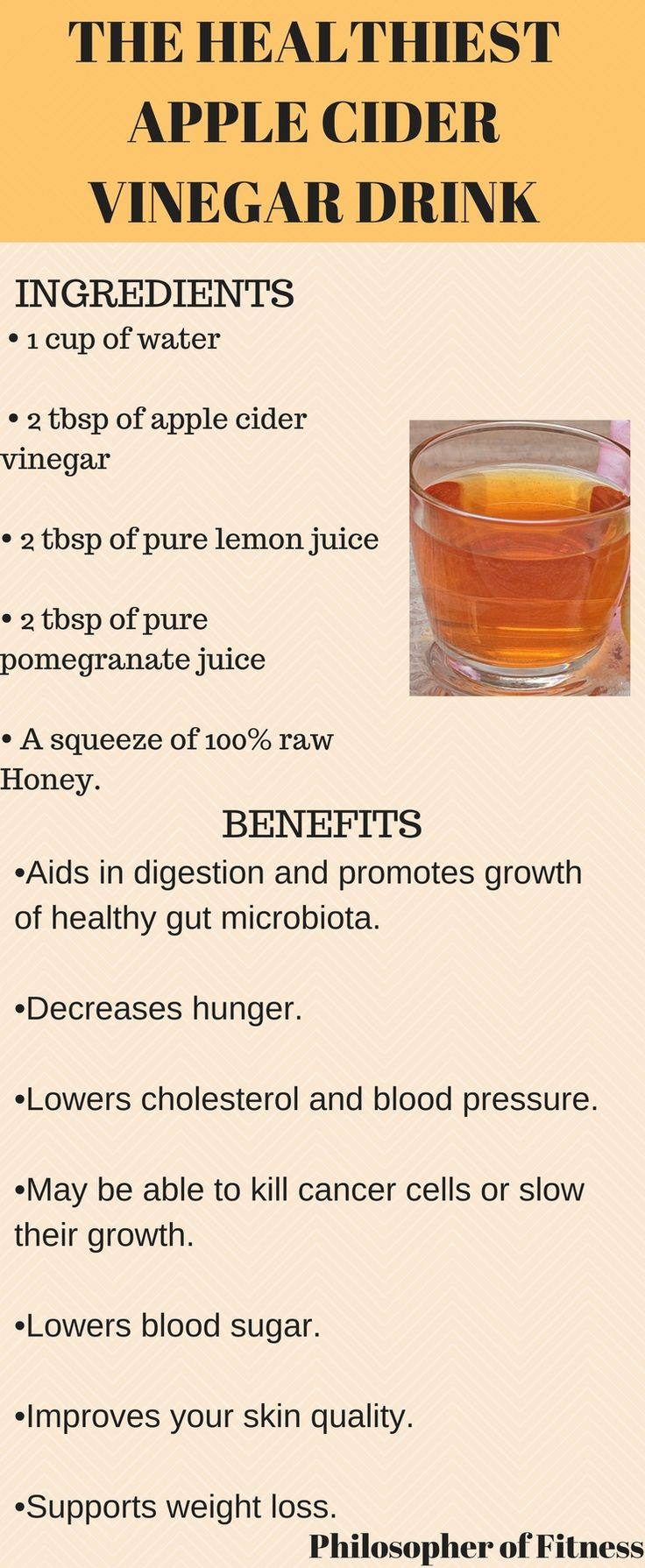 Try The Healthiest Apple Cider Vinegar Drink! Click For More Information and Benefits of This Drink.