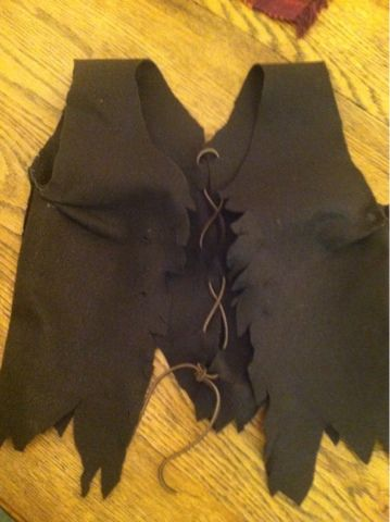 making felt vest for a pirate costume. no sewing. simple.   the making of a woman and a mother: Halloween 2013
