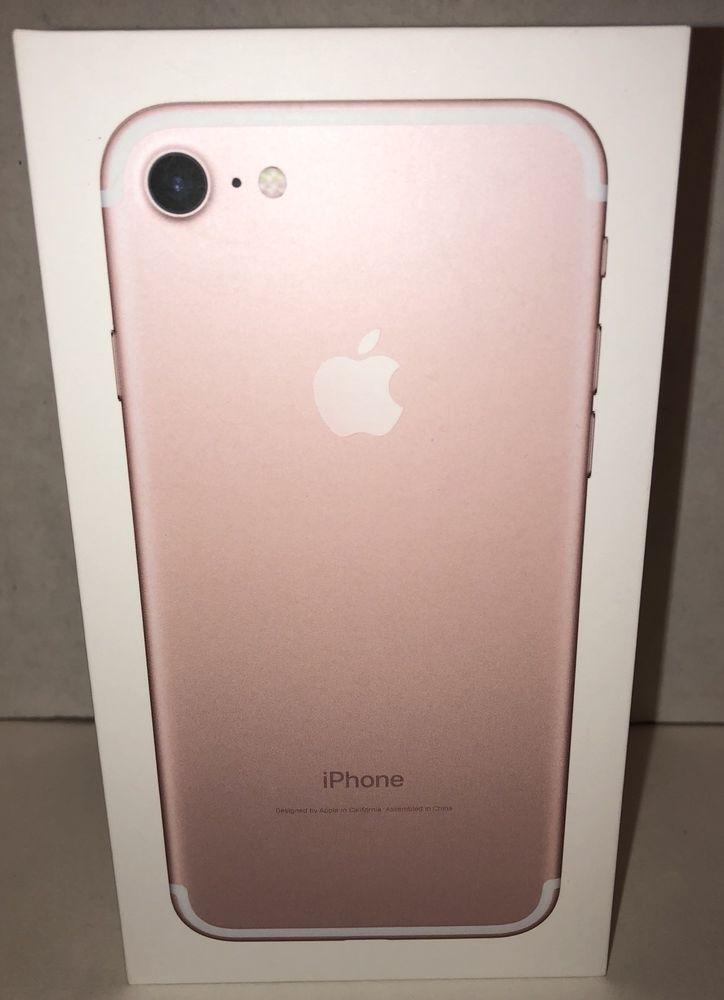 Original Empty Box Apple iPhone 7 32GB Rose Gold # BOX ONLY