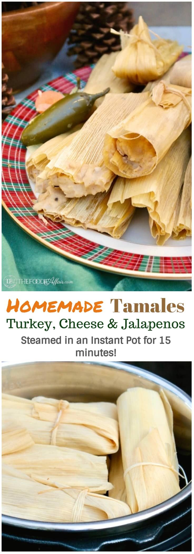 Homemade tamales may seem daunting to make, but this recipe will give you easy step by step instructions on how to make turkey and cheese & jalapeño tamales from ingredients found at most grocery stores.