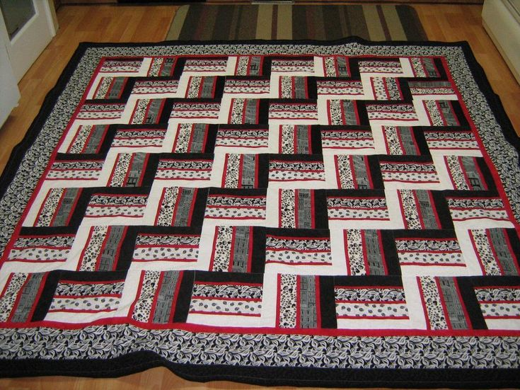 Rail Fence Quilt - inspiration for my quilt.