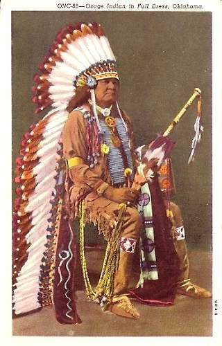 Osage Indian Chief Full Dress