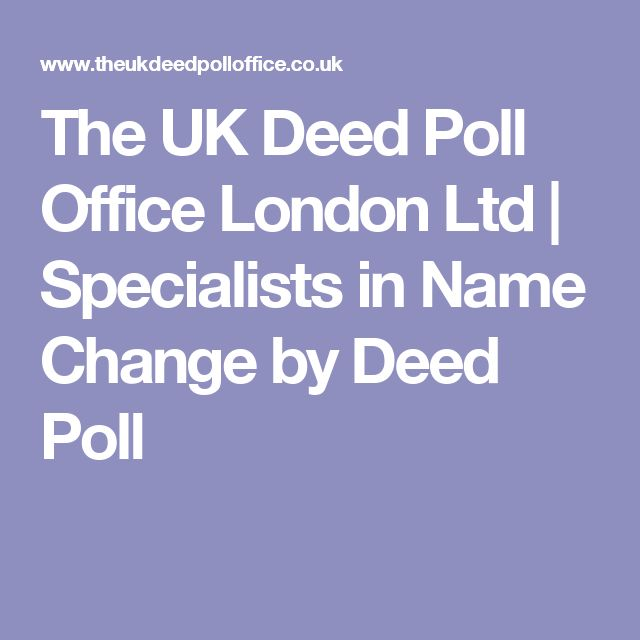 The UK Deed Poll Office London Ltd | Specialists in Name Change by Deed Poll