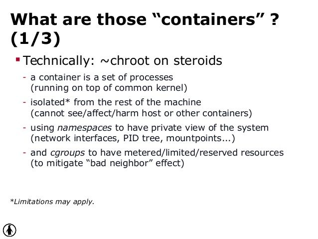 """What are those """"containers"""" ?"""