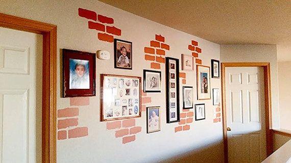Brick Wall Decals Individual Brick Wall by TrendyWallDesigns