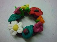polymer clay wreath