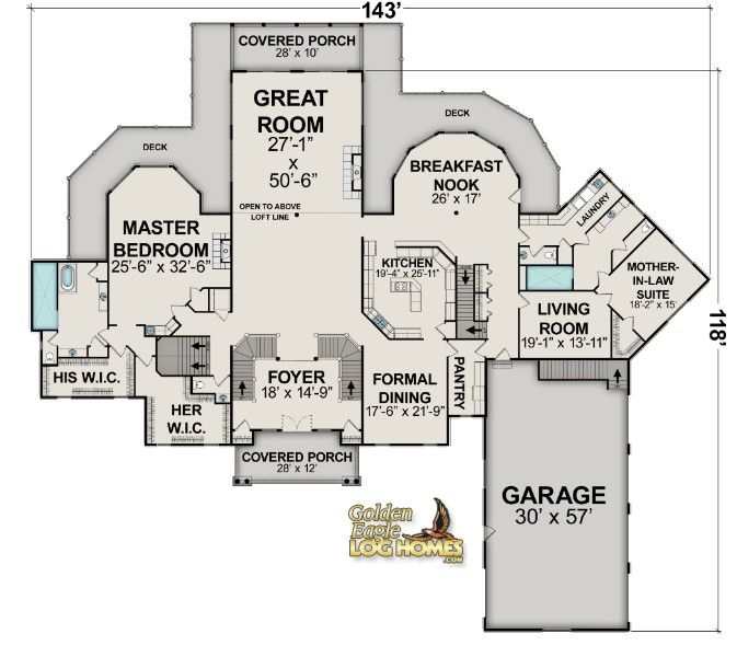 floor plans for log cabin homes
