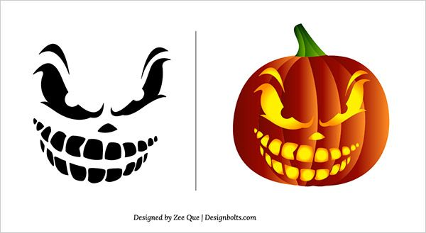 Free-Scary-Pumpkin-Carving-Patterns-&-Stencils-09                                                                                                                                                     More