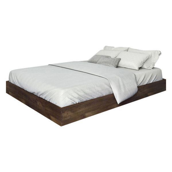 Houzz Nexera Platform Queen Bed Domino With Images Bed