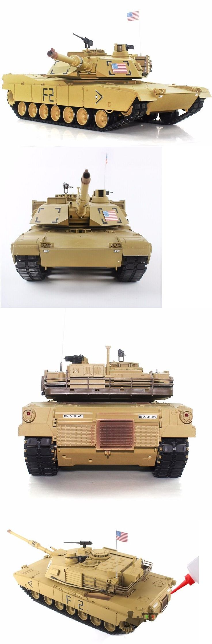 Tanks and Military Vehicles 45986: 2.4Ghz 1 16 Us M1a2 Abrams Rc Tank Upgrade Super Metal W Smoke And Sound Rtr -> BUY IT NOW ONLY: $289.99 on eBay!