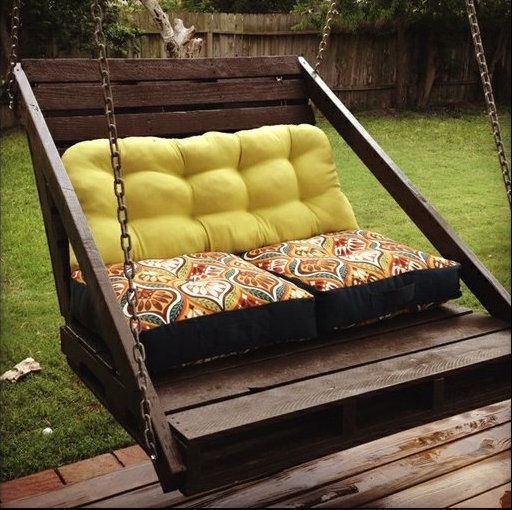 Porch swing!!!!  90 Ideas For Making Beautiful Furniture From Upcycled Pallets - Style Estate -