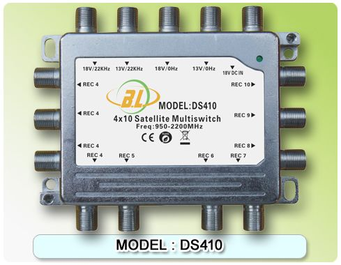 Satellite TV switch DS410 and 4 TV programs assigned to 10 users watch - http://nk-reviews.com/products/satellite-tv-switch-ds410-and-4-tv-programs-assigned-to-10-users-watch/