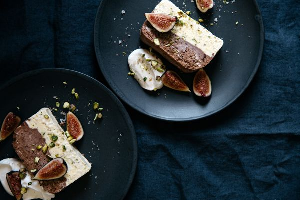 Pistachio, Vanilla and Chocolate Crunch Semifreddo.