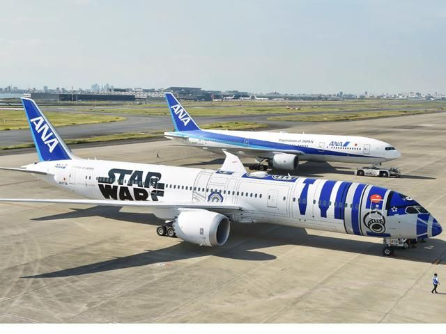 Slideshow : ANA's much-awaited 'Star Wars' themed jet - All Nippon Airways' much-awaited 'Star Wars' themed Boeing Dreamliner Airplane - The Economic Times