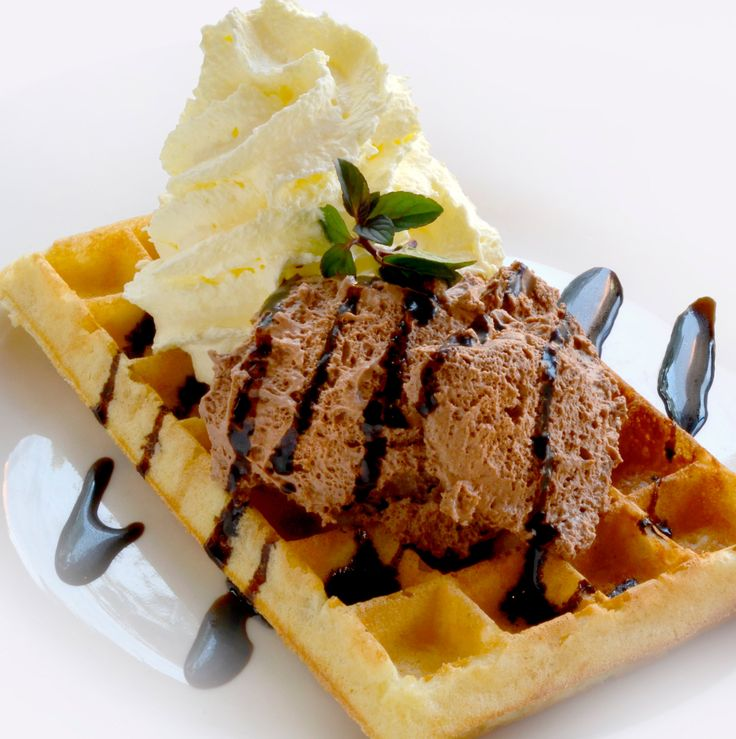 Chocolate Mousse Waffle from the Waffle House