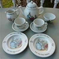 Vintage Wedgwood PETER RABBIT  - favorite child's tea set ever - and Harrods ships!