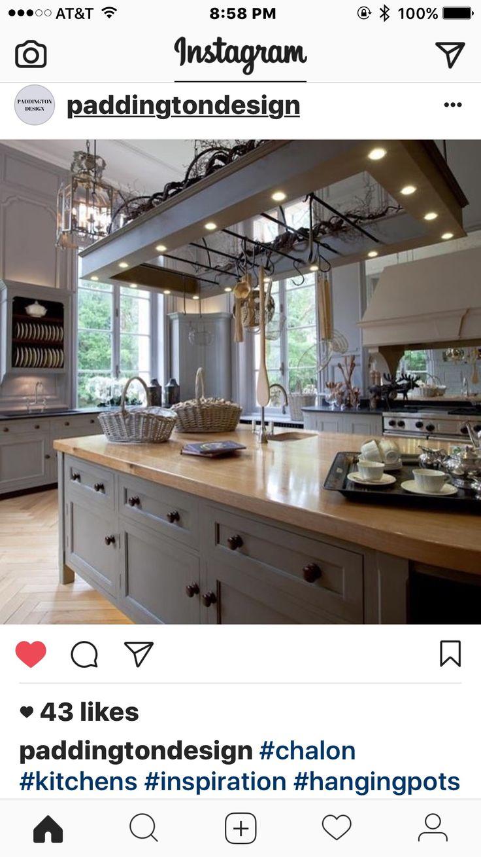 Küche anthrazit industrie kücheninsel beleuchtung kücheninseln englisch küchen länderküchen dekor ideen nach hause zimmer ideen luxusküchen
