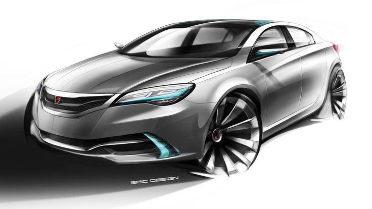 Roewe N1 Concept Design Sketch