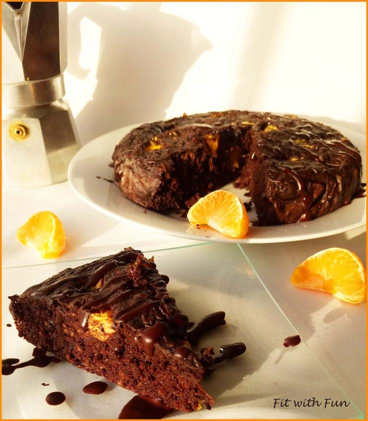 Porridge Cake with Mandarine Coffee and Triple Chocolate