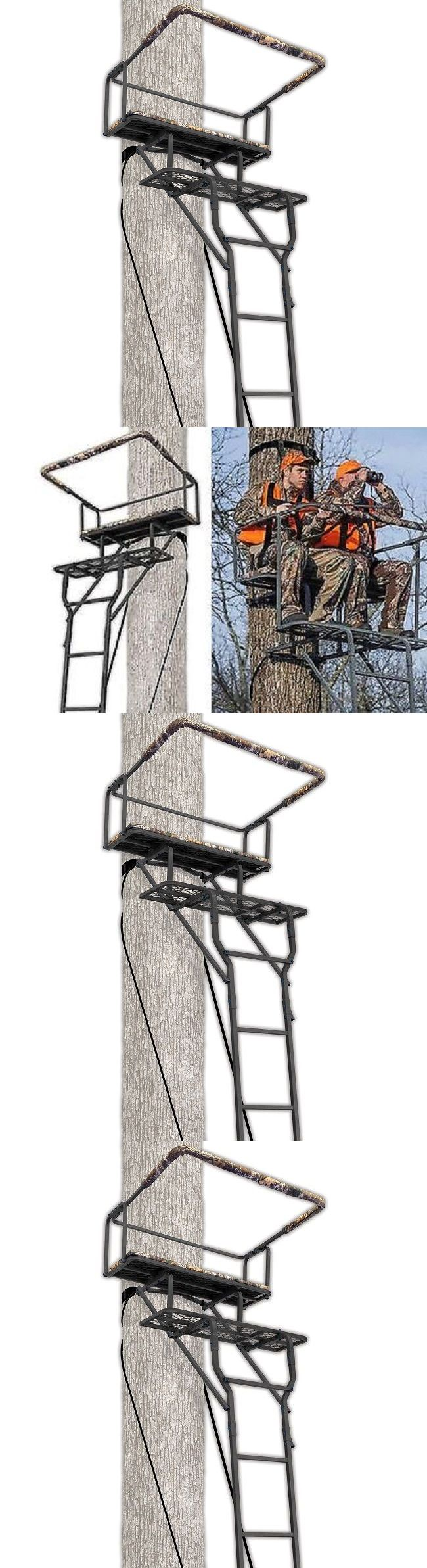 Tree Stands 52508: 2 Man Hunting Ladder Stand Deer Standing Bow Portable Lightweight Treestand 15 -> BUY IT NOW ONLY: $109.95 on eBay!