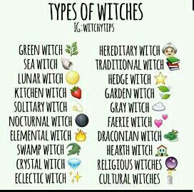 Types of witches | Rachel | Wiccan witch, Pagan witch, Wiccan spells