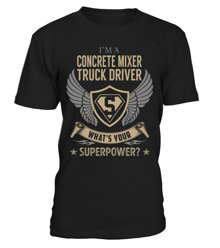 Concrete Mixer Truck Driver - What's Your SuperPower #ConcreteMixerTruckDriver