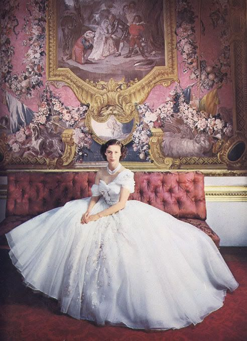 Miles Redd ~ This is the picture he said that made him want to be a designer at age 5.  He loved the red tufted settee and now has his own. Princess Margaret by Cecil Beaton