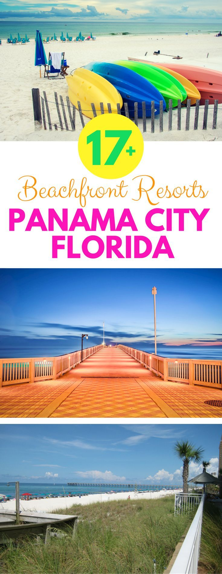 Looking for a beachfront resort for your next Panama City, Florida vacation? Check out these amazing vacation rentals right on the beach with accommodations large enough for kids, grandparents, and the entire family.