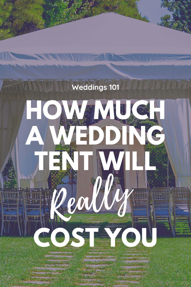 How Much Do Wedding Tents Cost? Woman Getting Married in