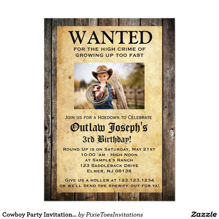 the 25+ best cowboy party invitations ideas on pinterest | cowboy, Party invitations