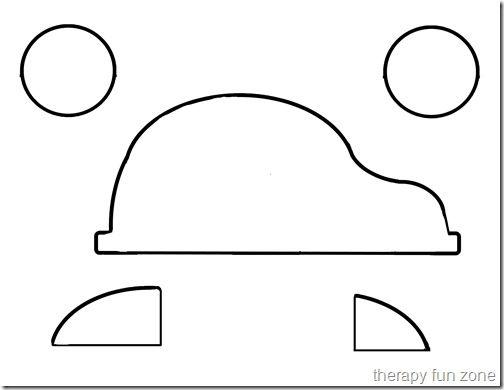 Knipoefening: Sjabloon voor een auto.