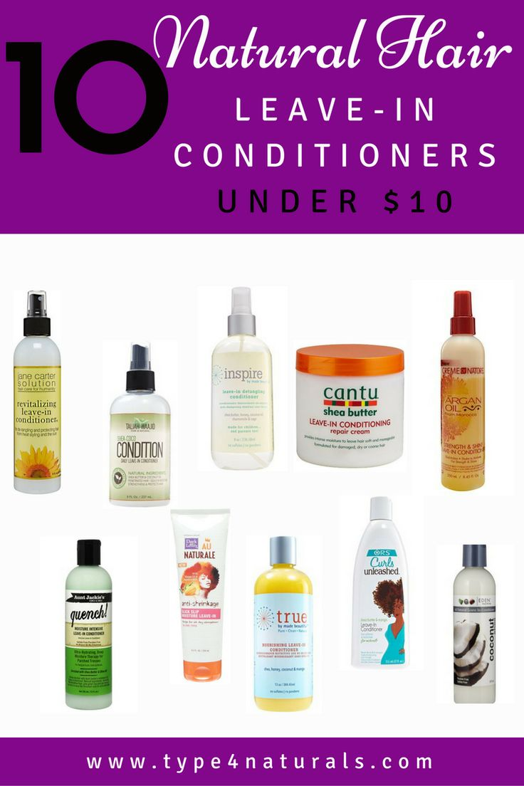 10 Natural Hair Leave-In Conditioners Under $10