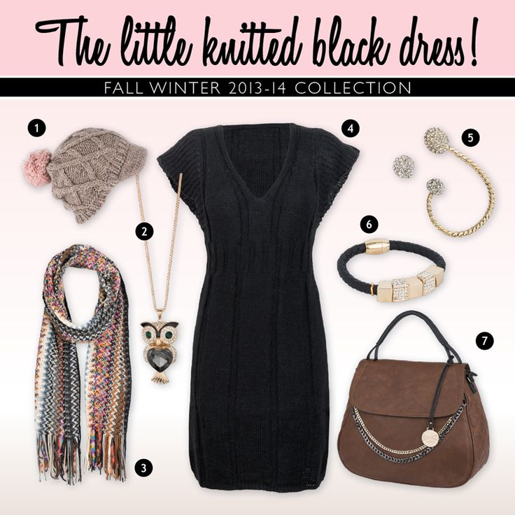Achilleas accessories | The little knitted black dress!