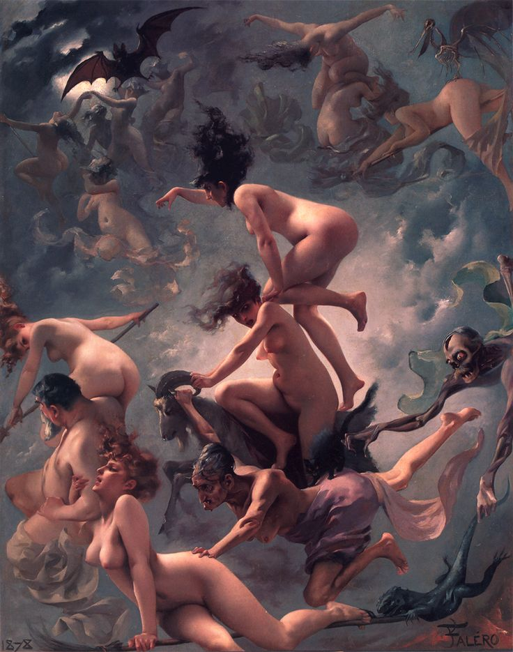 Luis Ricardo Falero, Departure of the Witches, Faust's Vision 1878
