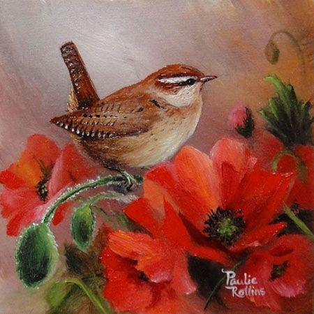 Poppy Wren ~ by Artist Paulie Rollins