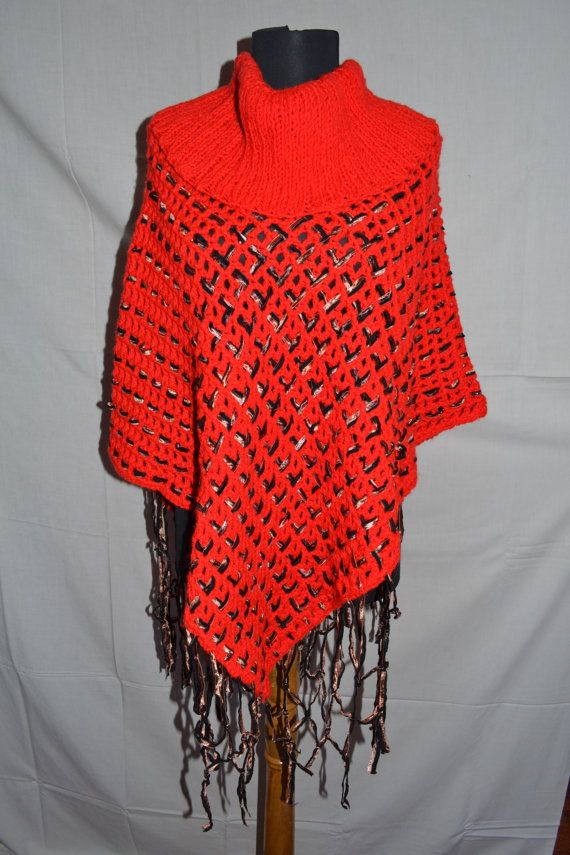 Hey, I found this really awesome Etsy listing at https://www.etsy.com/listing/219828881/wool-cardigan-red-poncho-ladies-knitted
